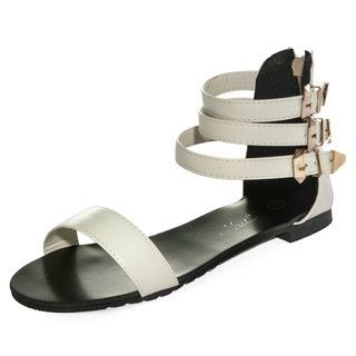 yeswalker - Metal Tip Ankle Strap Sandals