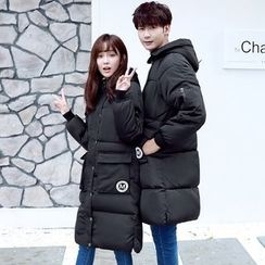 Evolu Fashion - Couple Matching Hooded Padded Coat