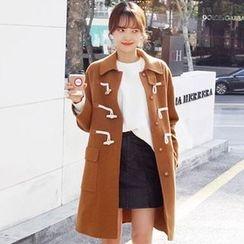 OTTI - Plain Long Woolen Coat