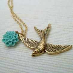 MyLittleThing - Golden Pigeon Necklace