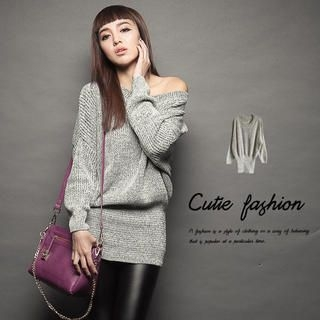 CUTIE FASHION - Tube-Hem Sweater