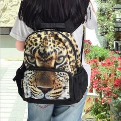 Bistar - Leopard Printing Large Zipper 12 inch Backpack