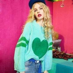 ELF SACK - Heart-Print Sweater