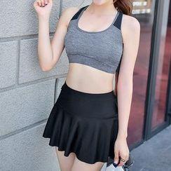 Roseate - 套装: 游泳上衣 + 泳裤 + 裙 + 长袖T恤