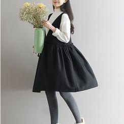 Viana Smile - Maternity Frill Trim V-Neck Tank Dress