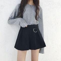 EEKO - 纯色A字裙裤