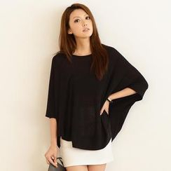 SO Central - Batwing Sleeve Loose-Fit Top