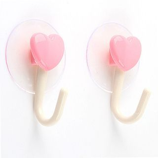 Evora - Set of 2: Heart Suction Wall Hook