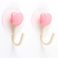 Evora - Set of 2: Heart Suction Wall Hook