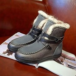 BARCA - Buckled Short Snow Boots