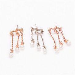 Best Jewellery - Fringed Faux Pearl Earrings