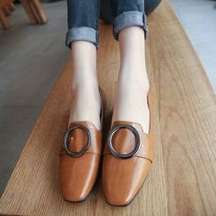 BARCA - Round Buckle Loafers