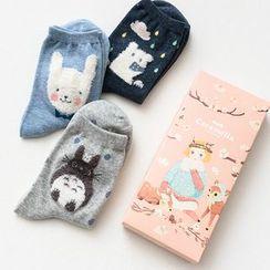Socka - Pair of 3: Cartoon-Print Socks