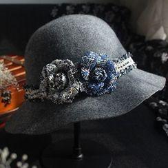 EVEN - Corsage Fleece Jazz Hat