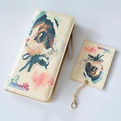 Aoba - Cat Printed Wallet