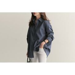 UPTOWNHOLIC - Cotton Striped Shirt