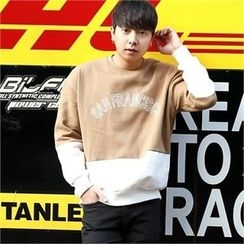 Smallman - Fleece-Lined Color-Block T-Shirt