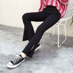 Mayflower - Side Slit Boot Cut Pants