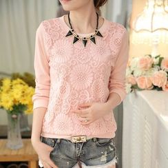 ESODO - Long-Sleeve Lace Top