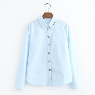 Snow Goose - Embroidered Long-Sleeve Blouse