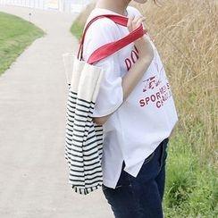 Eastin - 條紋帆布購物袋