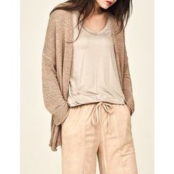 GUMZZI - Open-Front Loose-Fit Cardigan