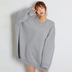 FASHION DIVA - Brushed-Fleece Lined Oversized Sweatshirt
