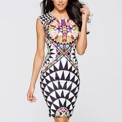 Dream a Dream - Printed Sleeveless Dress