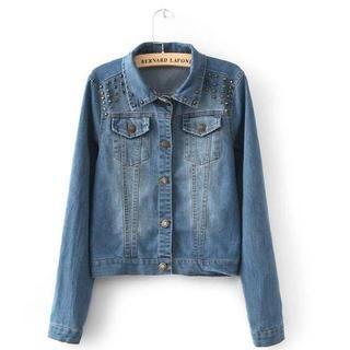 JVL - Washed Studded Denim Jacket