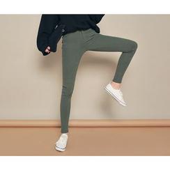 HOTPING - Fleece-Lined Skinny Pants