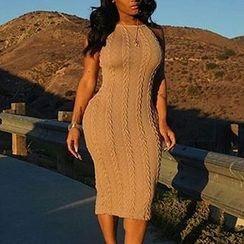 Merma - Cable Knit Sleeveless Dress