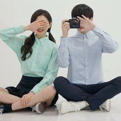 Seoul Homme - Couple Plain Cotton Shirt