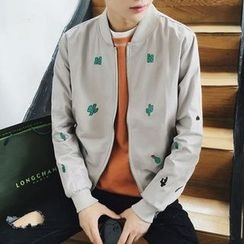 Zeesebon - Embroidered Baseball Jacket