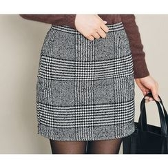 HOTPING - Houndstooth Pencil Skirt