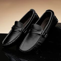 WeWolf - Genuine-Leather Stitched Loafers