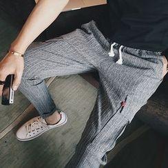 Bay Go Mall - Striped Drawstring Pants