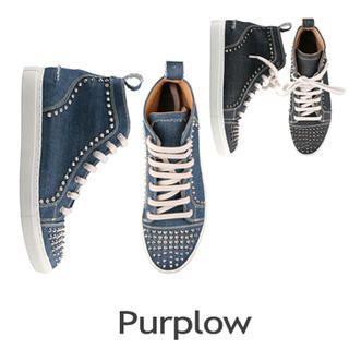Purplow - Stud-Trim High-Top Sneakers