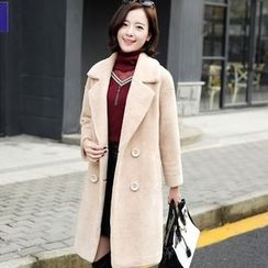 NINETTE - Notched-Lapel Double-Breasted Coat