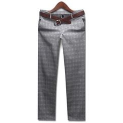 Seoul Homme - Plain Glen-Check Dress Pants