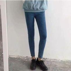 時尚麻豆家 - 高腰窄身牛仔褲