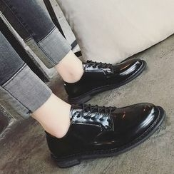 Hipsole - Block-Heel Lace-Up Oxfords