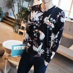Better Man - Print V-Neck Long-Sleeve T-Shirt