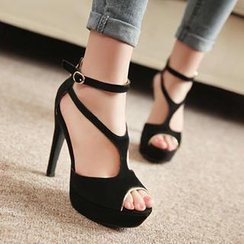 Sidewalk - T-Strap High Heel Pumps