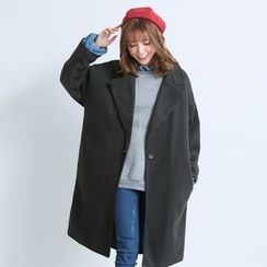 BAIMOMO - One-Button Loose-Fit Coat
