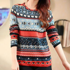 anzoveve - Pattern Knit Top