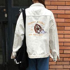 TriStyle - Embroidered Denim Jacket