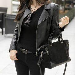 Dimanche - Faux Leather Biker Jacket