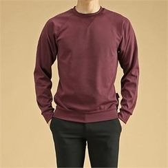 THE COVER - Raglan-Sleeve Plain Pullover