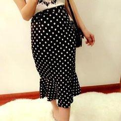 Pretty Daze - Polka Dot Midi Skirt