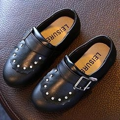 Luco - Kids Buckled Faux Leather Flats